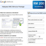 Malaysia SME Stimulus Package – Pay RM200 to Get RM200 of Free Google AdWords Advertising Credit